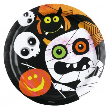 "Platos ""Friendly Mummy Halloween"" 23 cm (8 uds)"