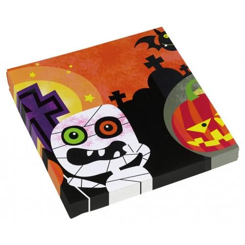 """'Servilletas """"Friendly Mummy Halloween"""" grandes (20 uds)"""