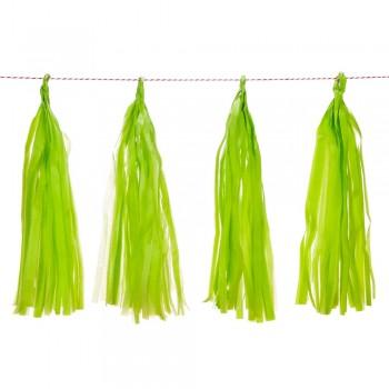 Guirnalda Flecos Color Verde Claro (1ud)