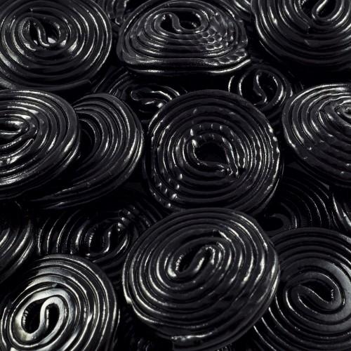 Discos de regaliz negros (40 uds)