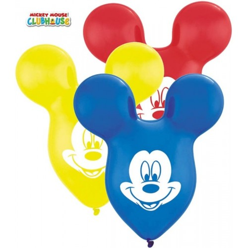 Globos Mickey Formas (6 uds)