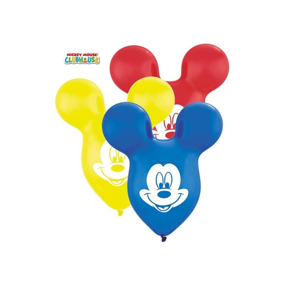 Globos Mickey Formas 6 Uds Hiperfiestas - Globos-con-formas