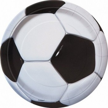 Platos 23cm Fútbol (8 uds)