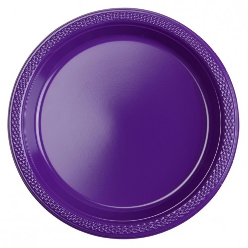 Platos Morados Plásticos 23 cm (10 uds)