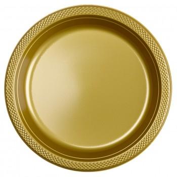 Platos Oro Plásticos 23 cm (10 uds)