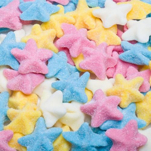 Estrellas de mar de azúcar multicolor (40 uds)