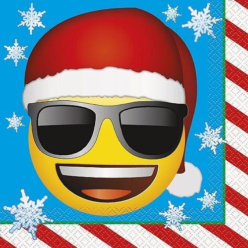 Servilletas Emoji Navidad grandes (16 uds)