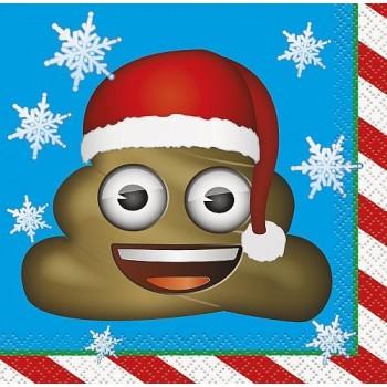 Servilletas Emoji Navidad pequeñas (16 uds)