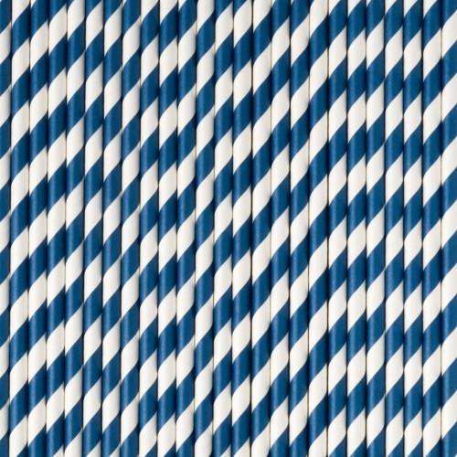 Pajitas rayas azul oscuras (25 uds)