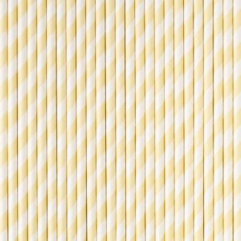 Pajitas rayas vainilla (25 uds)