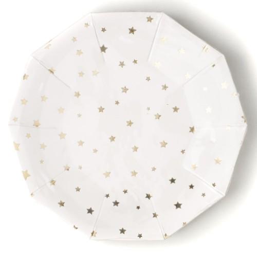 Platos Estrellas Oro 18 cm (8 uds)