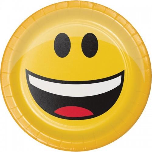 Platos Emoji Colors 18 cm (8 uds)