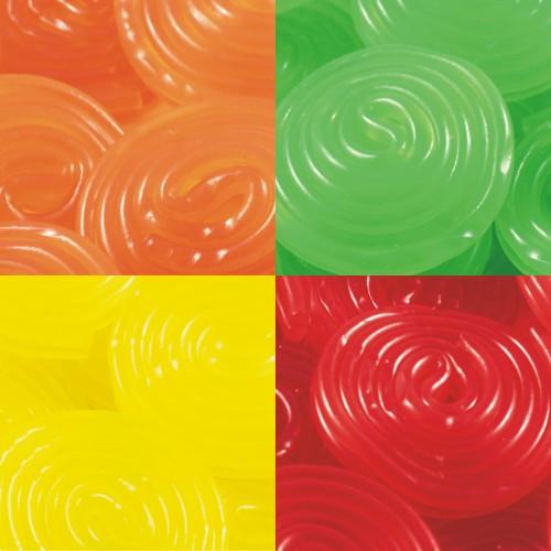 Discos de regaliz multicolor (40 uds)