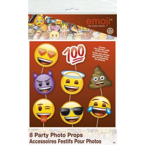 Photocall Emoji Faces (8 uds)