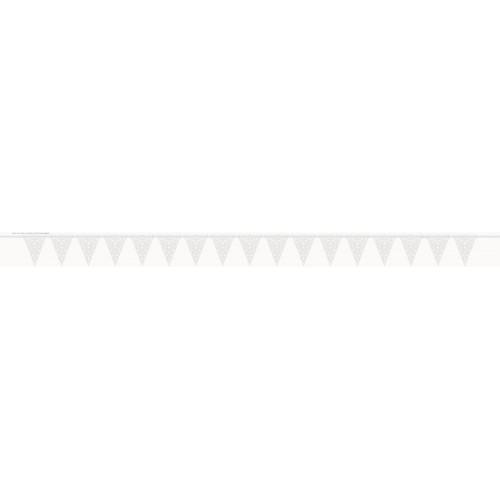 Banderín Encaje Color Blanco (1 ud)