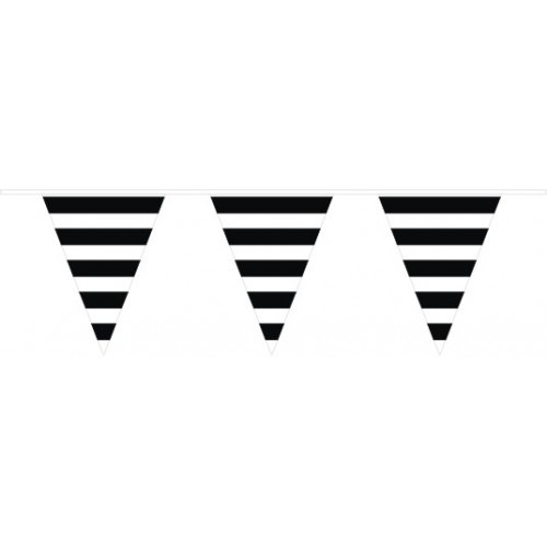 Banderín Triangular Rayas Negras (1ud)
