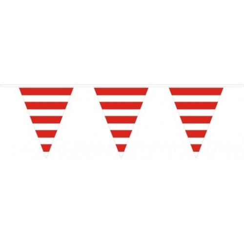Banderín Triangular Rayas Rojas (1ud)
