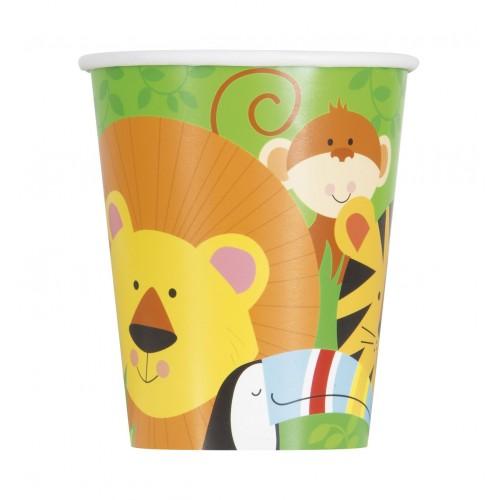 Vasos Animales de la Selva 250 ml (8 uds)