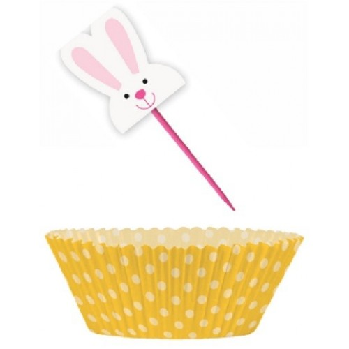 Kit Cupcakes Conejo Pascua (24 uds)