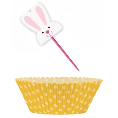 Kit Cupcakes Conejo Pascua (24 uds)