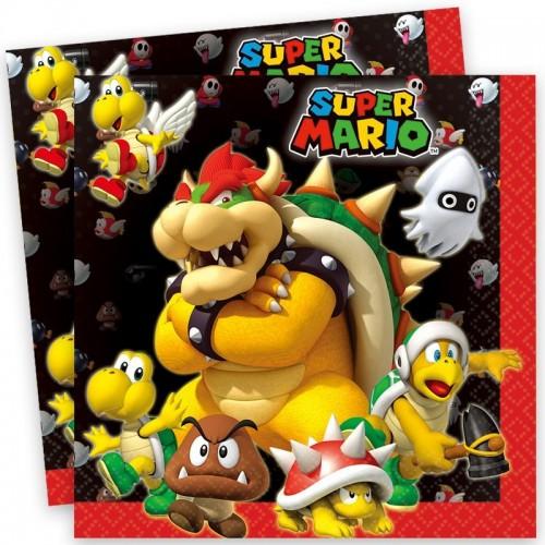 Servilletas Super Mario grandes (20 uds)