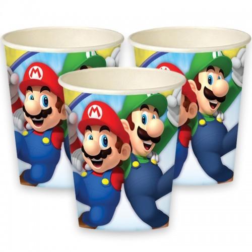 Vasos Super Mario 250 ml (8 uds)