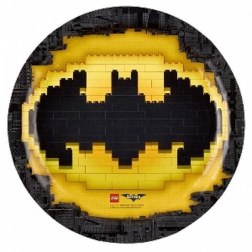 Platos Lego Batman 23 cm (8 uds)