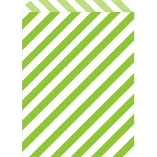 Bolsas Rayas Verde Candy Bar (25 uds)