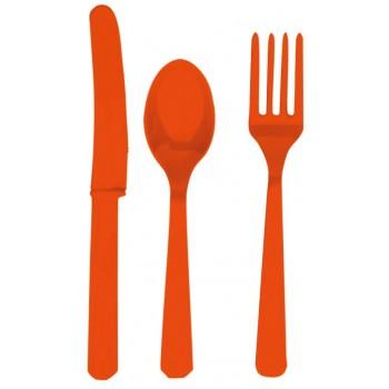 Pack Cubiertos Naranja (6x3 uds)