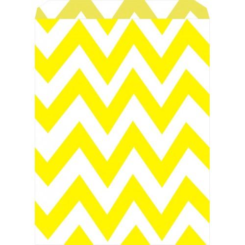 Bolsas Chevron Amarillas Candy Bar (25 uds)