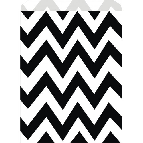 Bolsas Chevron Negro Candy Bar (25 uds)