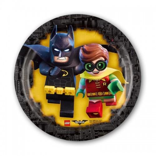 Platos Lego Batman 18 cm (8 uds)