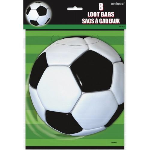 Bolsas sorpresa balón de fútbol (8 uds)