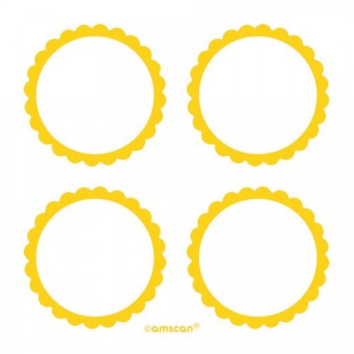 Etiquetas Adhesivas Amarillas (20 uds)