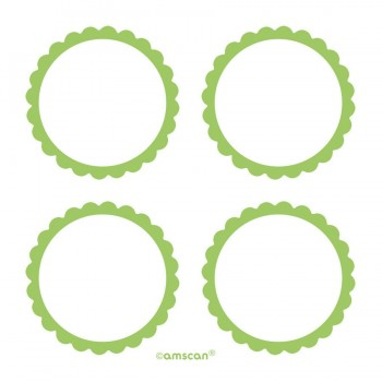 Etiquetas Adhesivas Verde Claro (20 uds)