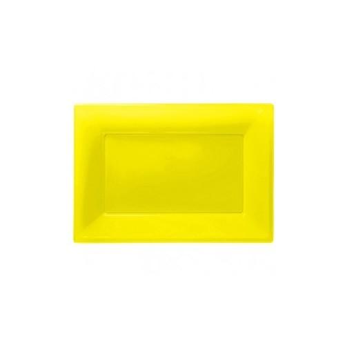 Bandeja Amarilla de Plástico (3 uds)