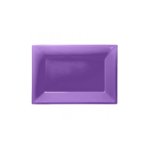 Bandeja Morada de Plástico (3 uds)