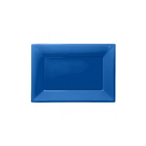 Bandeja Azul de Plástico (3 uds)