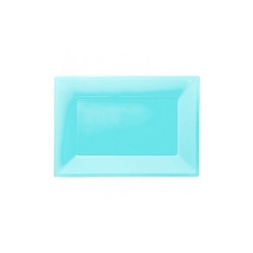 Bandeja Azul Caribe de Plástico (3 uds)
