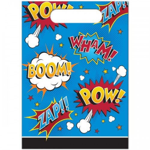 Bolsas para sorpresa Superhero Slogans (8 uds)