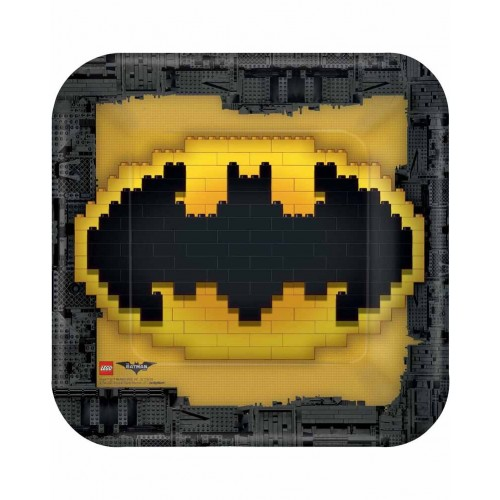 Platos Lego Batman cuadrado 23 cm (8 uds)