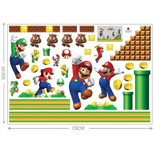 Decorado Pared Super Mario Bros (1 ud)