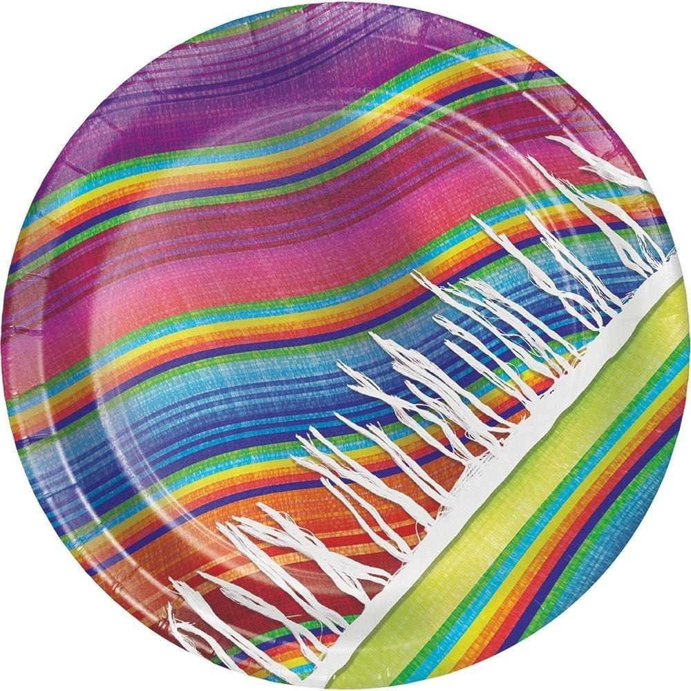 Platos Fiesta Mexicana Sarape 23 cm (8 uds) - HIPERFIESTAS 35f385a80e1