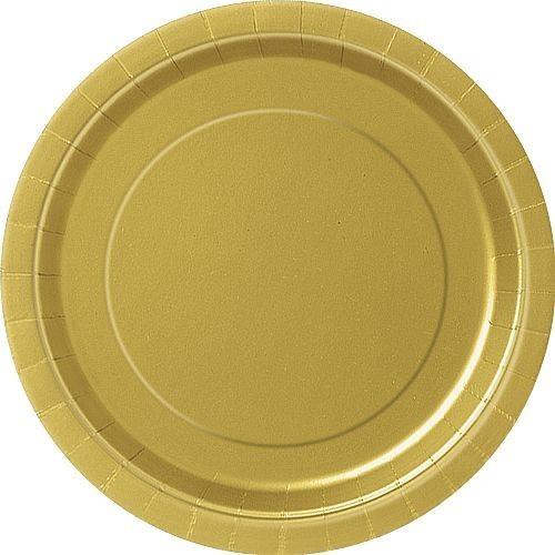 Platos Oro Cartón 23cm (8 uds)