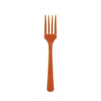 Pack Tenedores Naranja (10 uds)