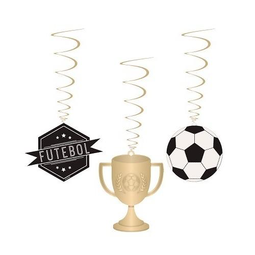 Decoración colgante fútbol (1 ud)