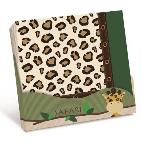 Servilletas safari leopardo (20 uds)
