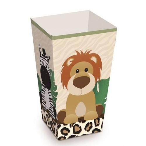 Cajas palomitas safari (8 uds)