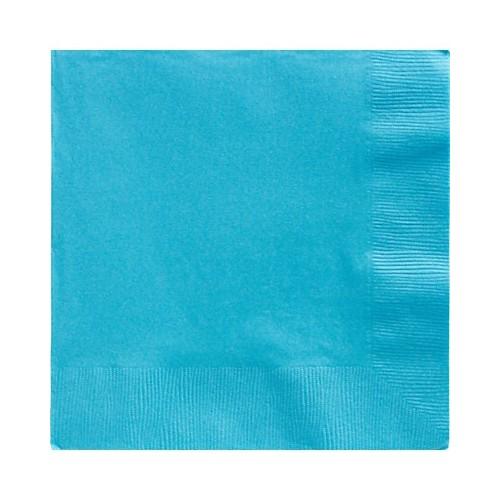 Servilletas Azul Caribe Grandes (50 uds)