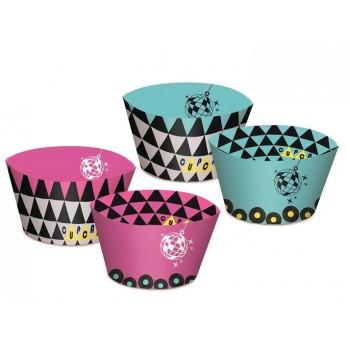 Decoraciones cupcakes keep calm (12 uds)